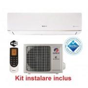 Aparat de aer conditionat Gree Bora A5 GWH09AAB-K3DNA5A Inverter, 9000 BTU, Wi-Fi, Catechin, Kit instalare inclus