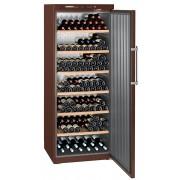 Vitrina pentru vinuri Liebherr WKt 6451, 625 L, 312 sticle, Rafturi lemn, Control taste, Display, H 193 cm, Culoare Terra