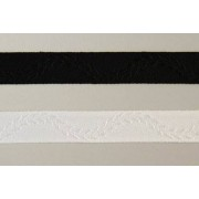 Trauer- Lotband weiß mit weißer Ranke