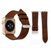 Voor Apple Watch serie 3 & 2 & 1 42mm kleine grot lederen pols horloge Band (koffie)