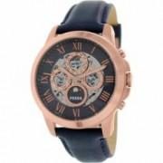 Ceas Fossil barbatesc Grant ME3029 albastru Leather Automatic