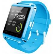 Smartwatch iUni U8+, Capacitive touchscreen, Bluetooth, Bratara silicon (Albastru deschis)