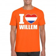 Bellatio Decorations Oranje I love Willem shirt heren