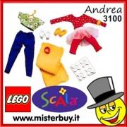 LEGO SCALA 3100 SET DI ABITI ANDREA