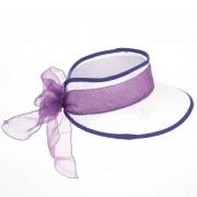 HUTTER berretto con visiera da donna in paglia by Hutter cappello con nastro in tessuto