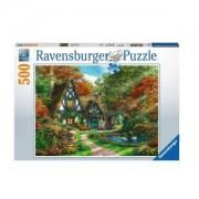 Пъзел Ravensburger 500 части - Вила през есента, 7014792