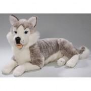 Merkloos Pluche Husky hond knuffel 42 cm