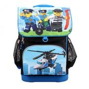 LEGO City, Ghiozdan scoala Optimo cu geanta sport Police Chopper