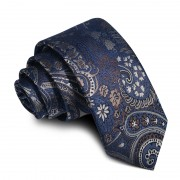 Cravata barbati bleumarin cu model Ernest