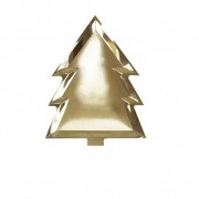 Ginger Ray Assiette Carton Sapin Or x6
