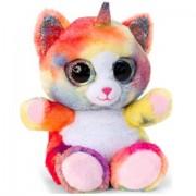 Pisica unicorn de plus curcubeu Animotsu Ochi Mari 15 cm