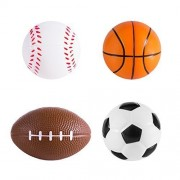 Sports Themed Mini Stress Balls Squeeze Foam for Anxiety Relief, Relaxation, Party Favor Toy, Gifts (12 Pack) by Super Z Outlet®