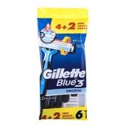 Gillette Blue3 Smooth jednorázová holítka 6 ks pro muže