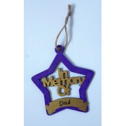 In Memory Personalised Christmas Decoration