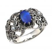 SS ダブレットオパール&シードパールリング【QVC】40代・50代レディースファッション