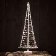 Santa's Tree, silver wire, height 51 cm