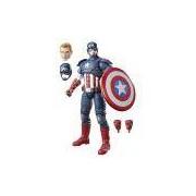 Boneco Colecionável Marvel Legends Series Captain America Hasbro Vermelho/Branco/Azul 30cm