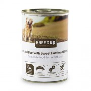 Breed Up Comida húmida para cães Breed Up Senior de cordeiro e vitela com batata doce e abóbora