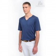 Cavalliera Riding Top Short Sleeve Men Style - Blauw - Size: Medium