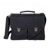 DSTRCT Wall Street Business Bag Classic Black 11-15 inch