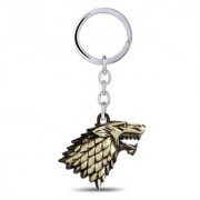 Optimus traders HBO Game of Thrones House Winter is coming Stark Head 3D Key Chain -gold