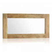 Oak Furnitureland Natural Solid Mango Mirrors - Wall Mirror - Mantis Light Range - Oak Furnitureland