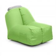 Blumfeldt AIRCHAIR, felfújható karosszék, 80x80x100 cm, hátizsák, mosható, poliészter, zöld (AFL-Airchair-GN)