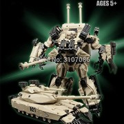 BaiCai Transformation G1 Brawl Leader Desert color M1A1-A21 Abrams Tank Model KO Action Figure Robot Toys