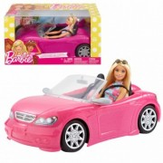 Barbie Cabriolet decapotabila cu papusa FPR57 masina