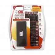 OkTech Okey-CU100 Carregador Universal 100W automático com 13 adaptadores