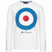 BEN SHERMAN Kinder Longsleeve Langarm Shirt BSH0003S-003 Optic White