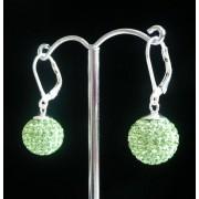 Lafira stříbrné náušnice Swarovski Ball Peridot 012