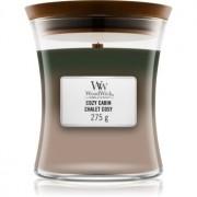 Woodwick Trilogy Cozy Cabin lumânare parfumată cu fitil din lemn 275 g