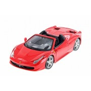 Bburago Ferrari 458 Spider Convertible, Red - 26017R 1/24 Scale Diecast Model Toy Car