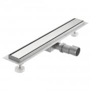 Стоманен лентов подов сифон за баня - стоманена рамка - (60x7см)