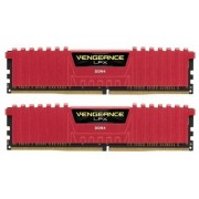 Corsair 32 GB DDR4-RAM - 2666MHz - (CMK32GX4M2A2666C16R) Corsair Vengeance LPX Red Kit CL16