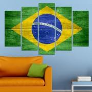 Декоративeн панел за стена с дизайн флагът на Бразилия Vivid Home