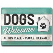 "Nostalgic-Art bord ""DOGS Welcome"""