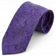 Tailor Toki Cravate à motif cachemire mauve foncé - large