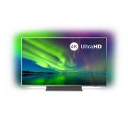 Televizor LED Philips 55PUS7504/12, 139 cm, 4K UHD, Smart TV, Dolby Atmos, Procesor Quad Core, Wi-Fi, Bluetooth, CI+, Ambilight, Clasa energetica A+, Argintiu