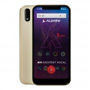 Telefon mobil Allview Soul X5 Mini Dual SIM, Gold, RAM 2GB, Stocare 16GB