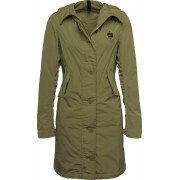 Blauer USA Long Unlined Trench Impermeable mujer Verde L