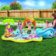 Let's Journey into Fashion Kid's Summer Fun Backyard Play Toddler Banzai Baby Sprinkles Splish Splash Water Park Sprinkling Activity Center