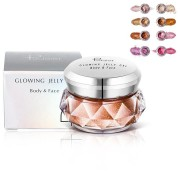 8 Colors 3D Highlighters Powder Gel Glow Face Shimmer Powder