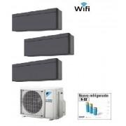 Daikin Climatizzatore Trial Stylish Blackwood 3mxm40m/n + 2 X Ftxa20at + Ftxa25at Wi-Fi 7+7+9