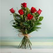 Interflora - Rosas Rojas de Tallo Largo - Flores a Domicilio