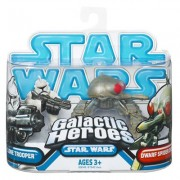 Star Wars 2009 Galactic Heroes 2-Pack Spider Droid and Clone Trooper