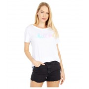 Chaser Gauzy Cotton Jersey Crew Neck Short Sleeve Easy Tee White