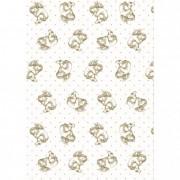 Csomagoló papír angyalkás Patinata 0,70x25m fehér