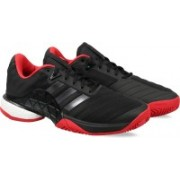 ADIDAS BARRICADE 2018 BOOST Tennis Shoes For Men(Black)